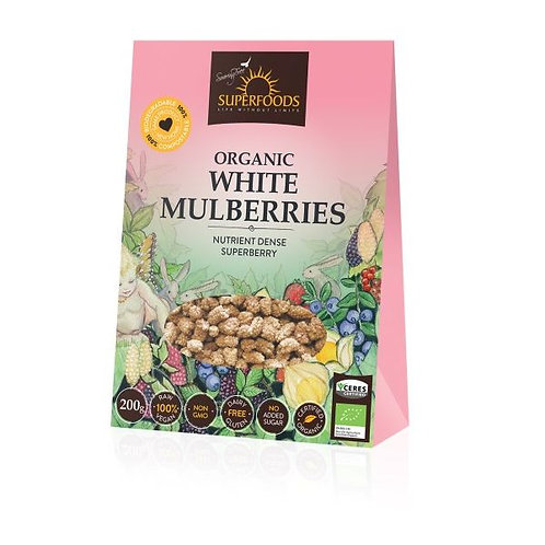 Organic White Mulberries - Soaring Free Superfoods