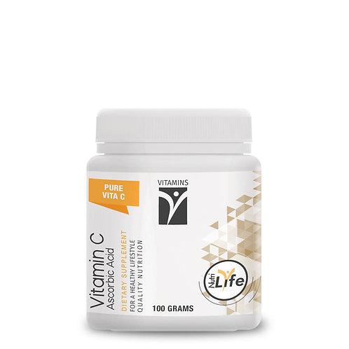 Ascorbic Acid Vitamin C Powder 100g - Nutri Life