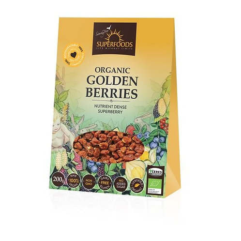 Organic Golden Berries - Soaring Free Superfoods
