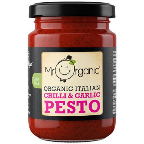 Organic Italian Chilli & Garlic Pesto - Mr Organic
