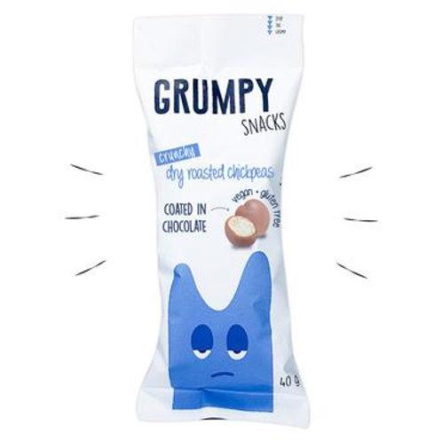 Chocolate Coated Chickpeas -  Grumpy Snacks