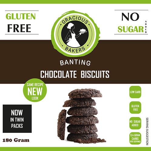 Banting Chocolate Biscuits - Gracious Bakers