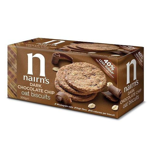 Dark Chocolate Chip Oat Biscuits - Nairns