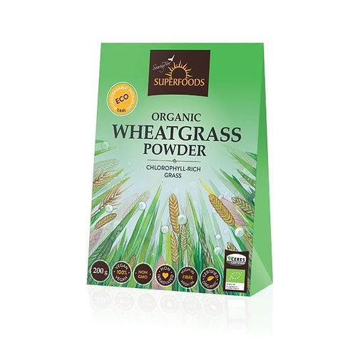 Organic Wheatgrass Powder 200g - Soaring Free Superfoods