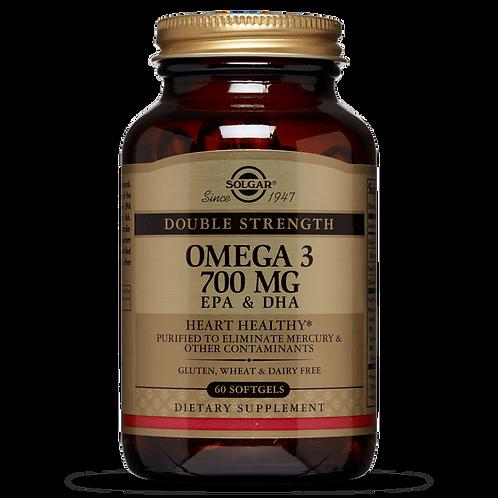 Double Strength Omega 3 700mg 60 Softgels - Solgar