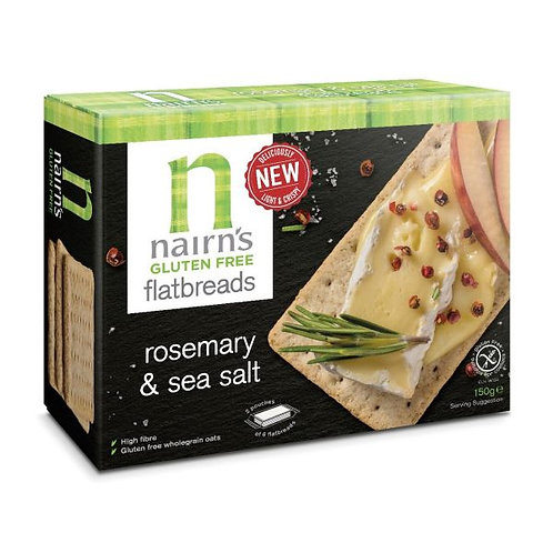 Rosemary & Salt Gluten Free Flatbread - Nairns