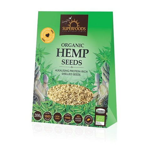 Organic Hemp Seeds 200g - Soaring Free Superfoods