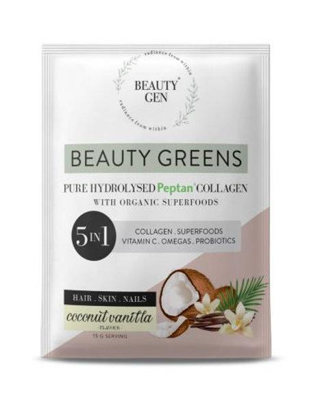 Beauty Greens Coconut Vanilla 5-in-1 Sachet - Beauty Gen