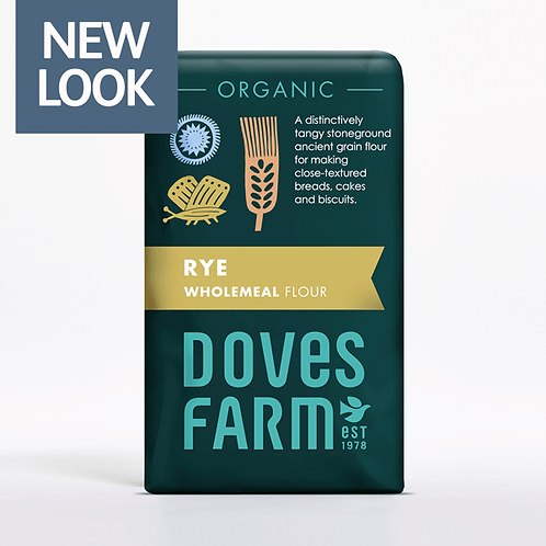 Organic Wholemeal Rye Flour 1kg - Doves Farm