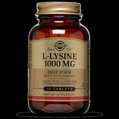 L Lysine 1000mg 50 Tablets - Solgar
