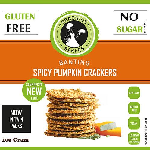 Banting Spicy Pumpkin Crackers - Gracious Bakers