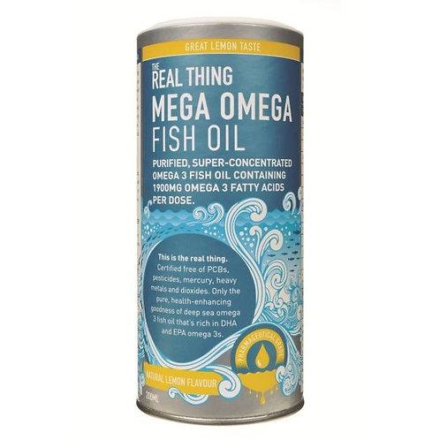 Mega Omega Fish Oil (Lemon) - The Real Thing