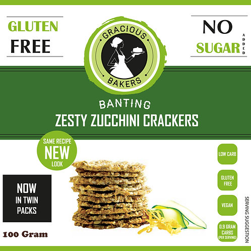 Banting Zesty Zucchini Seed Crackers - Gracious Bakers