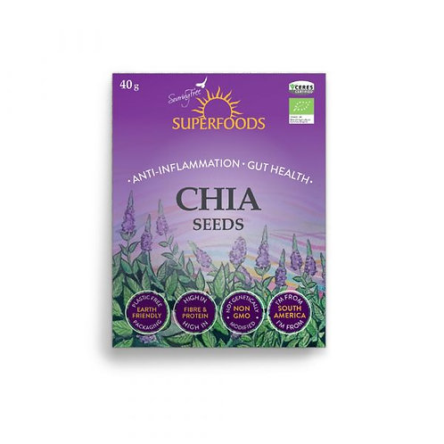 Organic Chia Seeds 40g - Soaring Free Superfoods