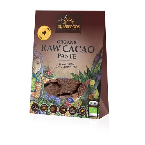 Organic Raw Cacao Paste - Soaring Free Superfoods