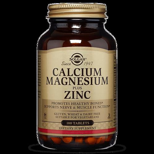 Calcium, Magnesium & Zinc 100 Tablets - Solgar