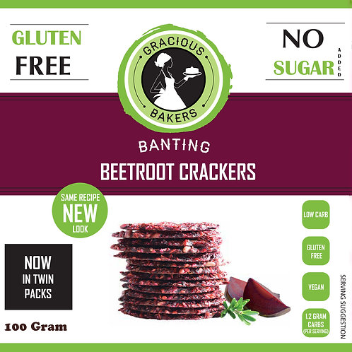 Banting Beetroot Seed Crackers - Gracious Bakers