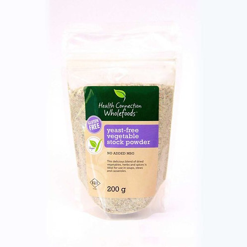 Yeast Free Vegetable Stock Powder (Gluten Free) 200g - Health Connection