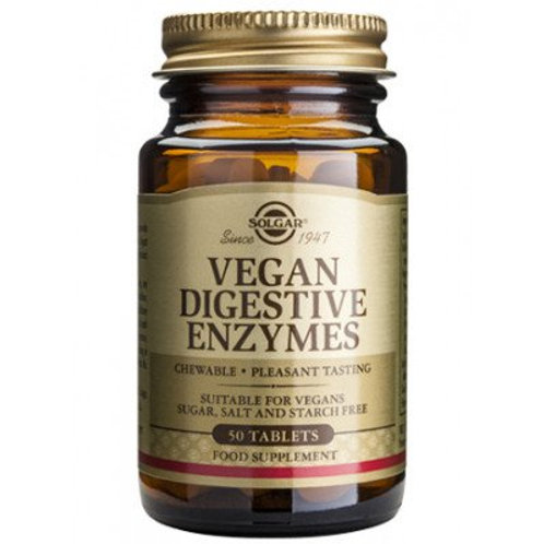 Vegan Digestive Enzymes 50 Tablets - Solgar
