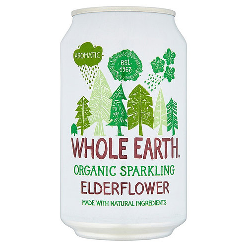 Organic Sparkling Elderflower Drink 330ml - Whole Earth