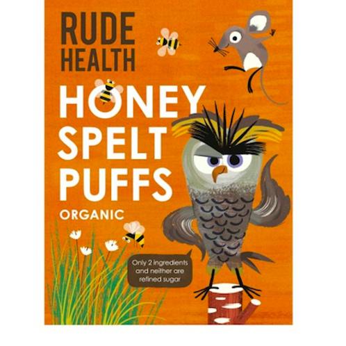 Organic Honey Spelt Puffs - Rude Health