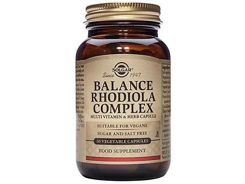 Balance Rhodiola Complex 60 Capsules - Solgar