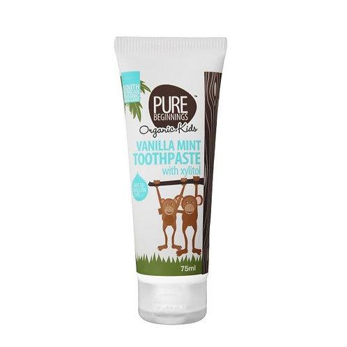 Vanilla Mint (for kids) Toothpaste 75ml - Pure Beginnings