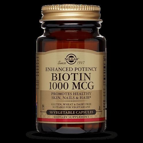 Biotin 1000mcg 50 Capsules - Solgar