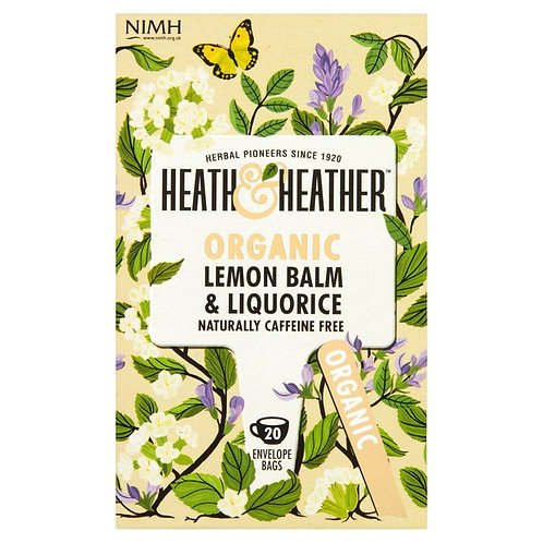 Organic Lemon Balm & Liquorice Tea - Heath & Heather