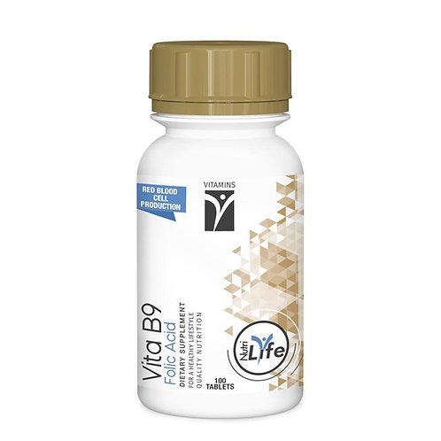 Vitamin B9 Folic Acid 100 Tablets - Nutri Life