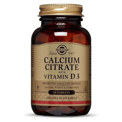 Calcium Citrate with Vitamin D3 60 Tablets - Solgar