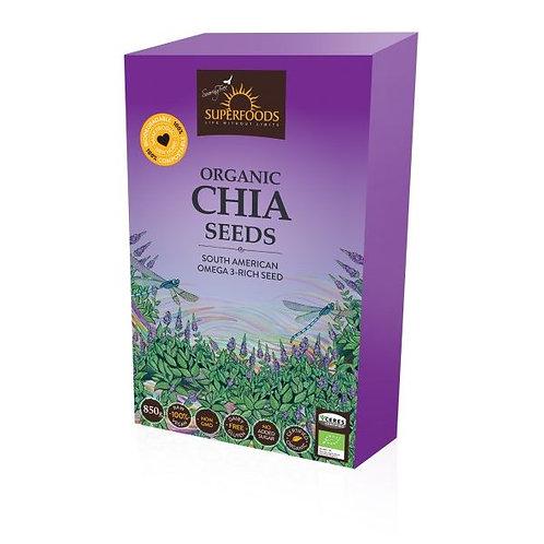 Organic Chia Seeds 850g - Soaring Free Superfoods