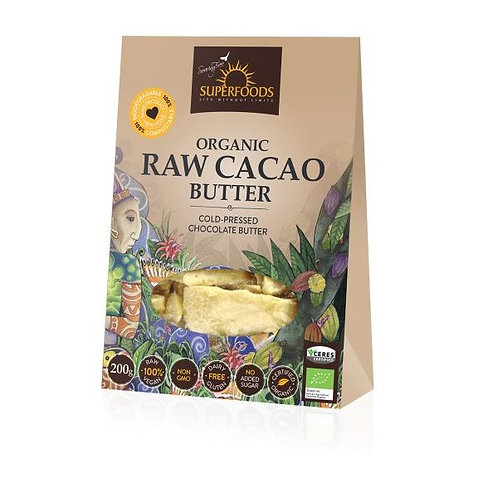Organic Raw Cacao Butter - Soaring Free Superfoods