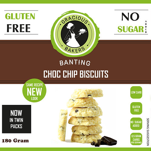 Banting Chocolate Chip Biscuits - Gracious Bakers