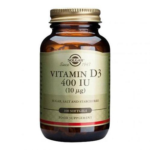 Vitamin D3 400iu 100 Softgels - Solgar