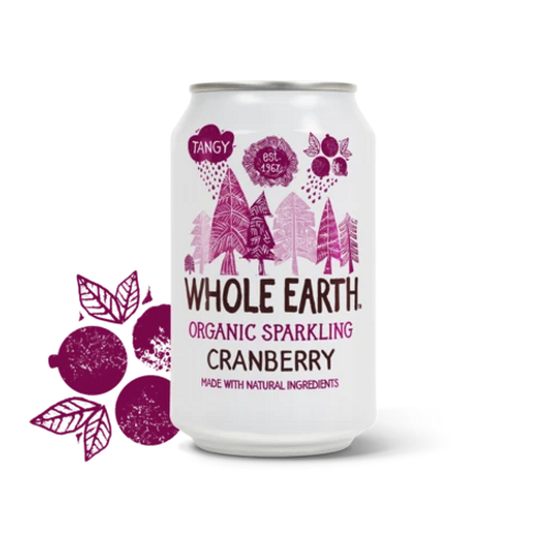 Organic Sparkling Cranberry Drink - Whole Earth