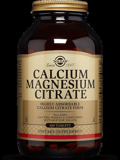 Calcium & Magnesium Citrate 50 Tablets - Solgar
