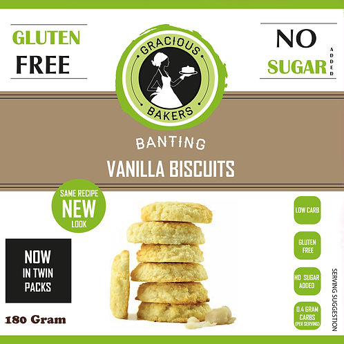 Banting Vanilla Biscuits - Gracious Bakers