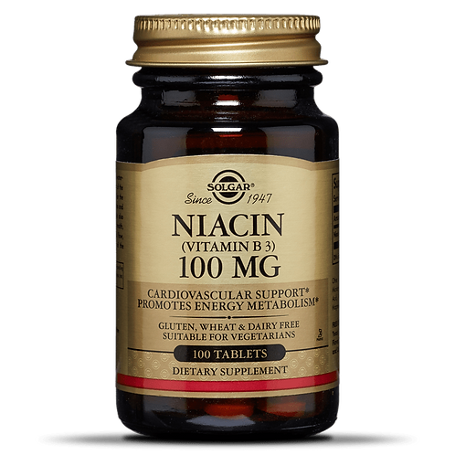 Vitamin B3 Niacin 100mg 100 Tablets - Solgar