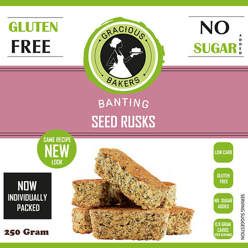 Banting Seed Rusks - Gracious Bakers