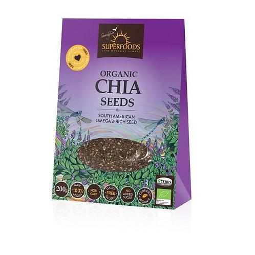 Organic Chia Seeds 200g - Soaring Free Superfoods