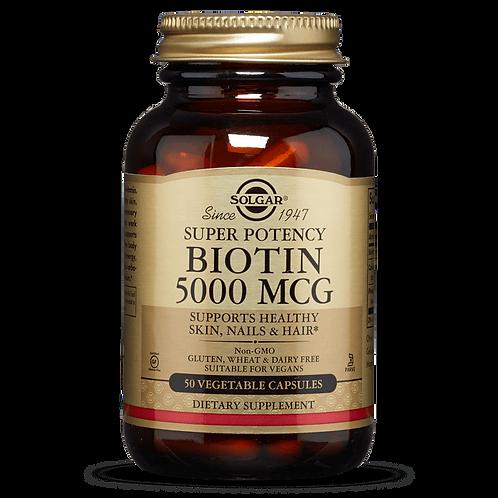 Biotin 5000mcg 50 Capsules - Solgar