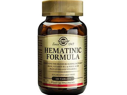 Hematinic Formula 100 Tablets - Solgar