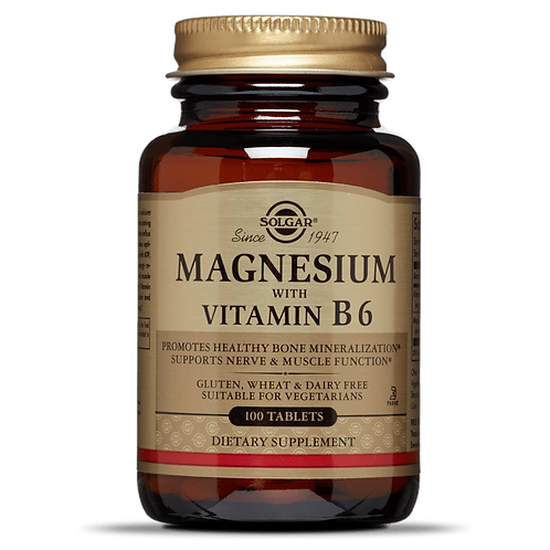 Magnesium with Vitamin B6 100 Tablets - Solgar
