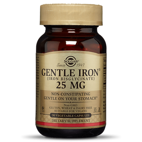 Gentle Iron 25mg 90 Capsules - Solgar