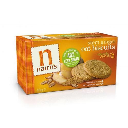 Stem Ginger Oat Biscuits - Nairns