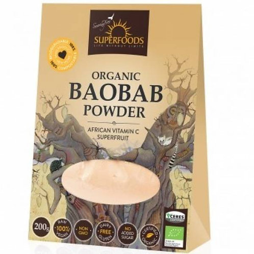Organic Baobab Powder 200g - Soaring Free Superfoods