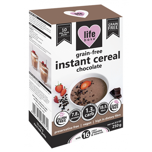 Instant Grain-Free Chocolate Cereal 250g - Life Bake
