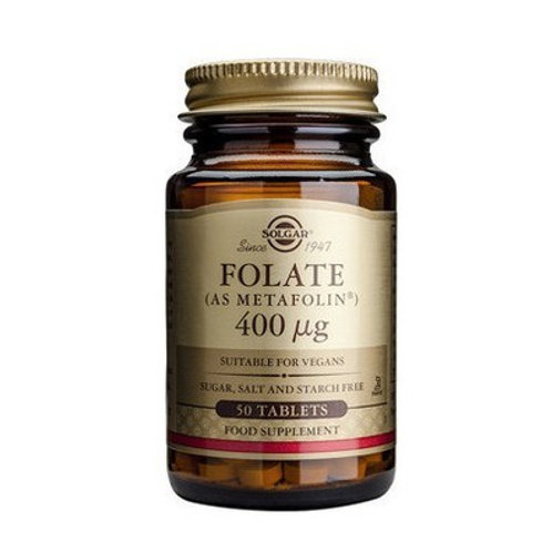 Folate 400ug 50 Tablets - Solgar