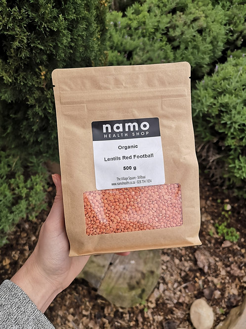 Organic Whole Red Lentils - Namo Health